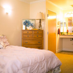 resident room with handicapped accessible bathroom