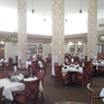 large 2 story dining room