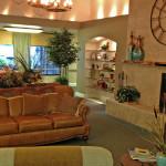 RHF Auburn Ravine waiting room with fireplace