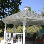 RHF Auburn Ravine gazebo on property with chair and tables