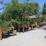RHF Auburn Ravine planter boxes on walkway