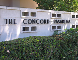 The Concord Pasadena sign