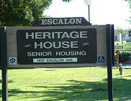 Escalon Heritage wooden sign