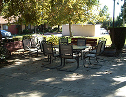 Escalon Heritage outdoor seating area
