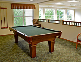 pool table in Esperanza recreation area