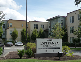 Esperanza Apartments sign