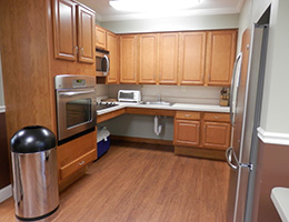 Essex Village resident kitchen that is handicapped accessible