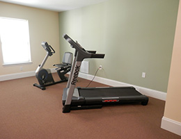treadmill and bike