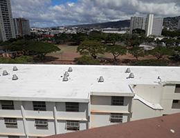 Pauahi Kupuna Hale rooftop view of park across the street