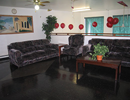 Richardson Manor lobby area with couches and chairs for seating