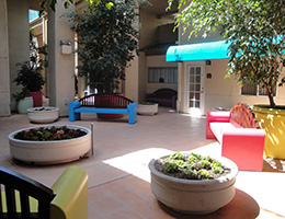 Rio Vista atrium and courtyard