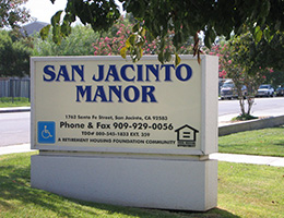 San Jacinto Manor sign
