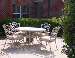 outdoor seating and furniture
