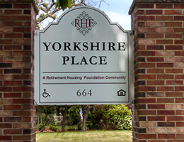 yorkshire place outdoor signage