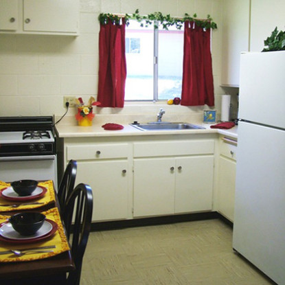 RHF Mayflower resident kitchen and dining area