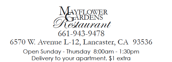 Mayflower Gardens Restaurant phone number, address, and hours