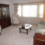 Bishop's Glen resident living room decorated with elegant furnishings