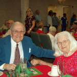 residents dressed up in their holiday best for a holiday celebration