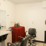 Our salon room equipped with personal seating