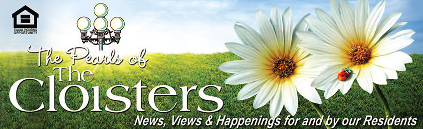 The Pearls of The Cloisters Newsletter banner