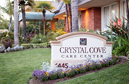 crystal cove care center sign