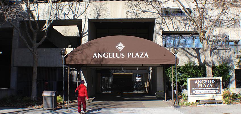 Angelus Plaza exterior awning