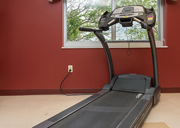 Treadmill in the rehab room