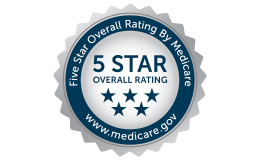 Medicare 5 star overall rating badge
