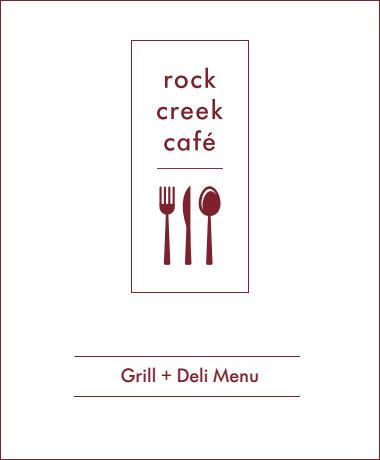rock creek cafe menu picture