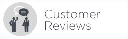 customer reviews button white