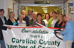 The Caroline Nursing staff at a ribbon cutting ceremony
