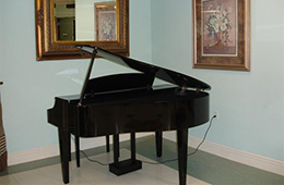 Long View community grand piano for all to enjoy
